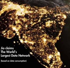 Jio worlds largest data network230